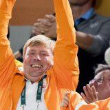 Handbalwedstrijd amsterdam juichen willem alexander